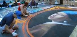 Palo Alto chalk art